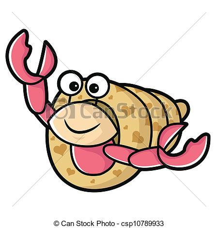 Cute Hermit Crab Clipart.