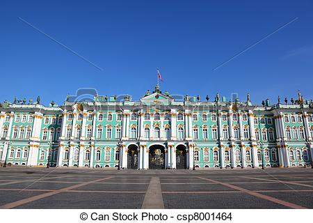 Stock Photo of Palace Square, Hermitage museum. Saint.