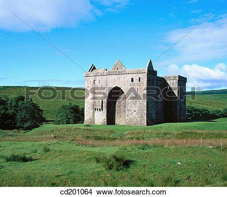 Stock Photo of Hermitage Castle. Liddesdale. Scottish Borders.