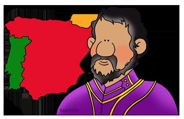 Free Hernando de Soto Clip Art by Phillip Martin.
