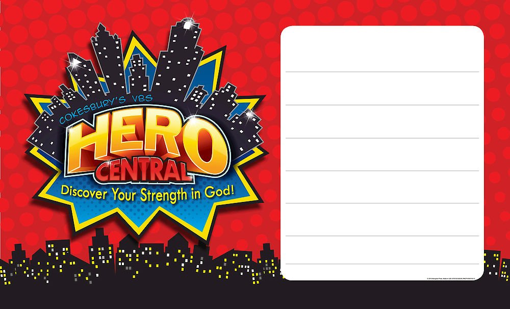 Vacation Bible School VBS Hero Central Outdoor Banner.