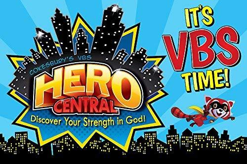 Vacation Bible School VBS Hero Central Invitation Postcards.