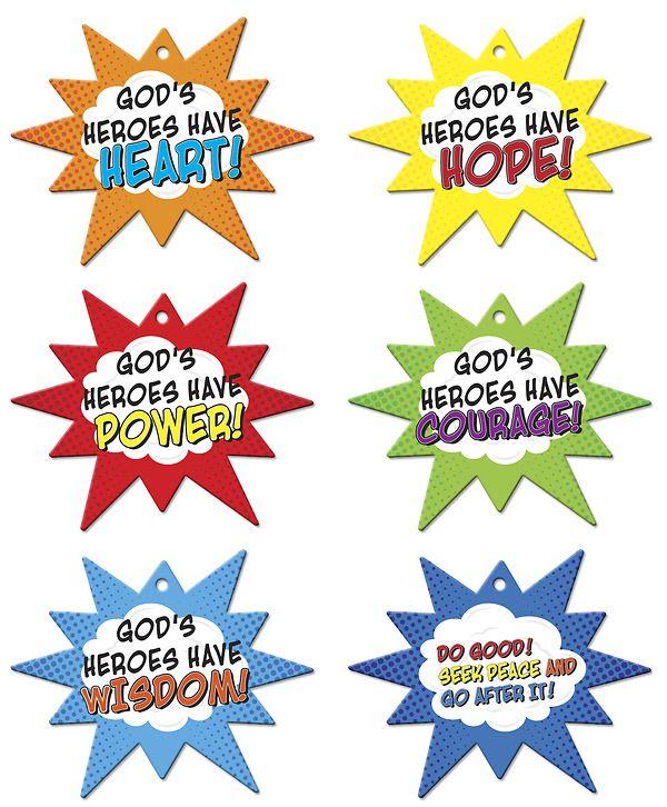 Vacation Bible School VBS Hero Central Hero Code Mobiles.