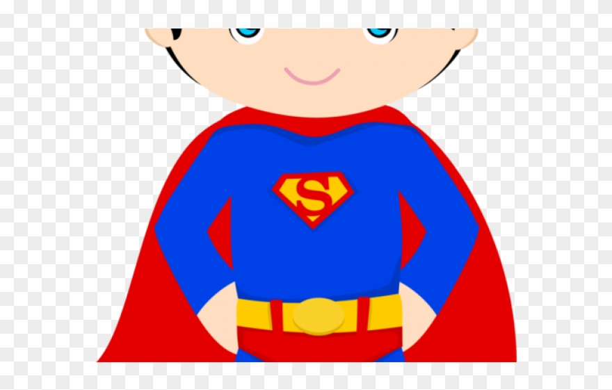 Little Boy Clipart Super Hero.