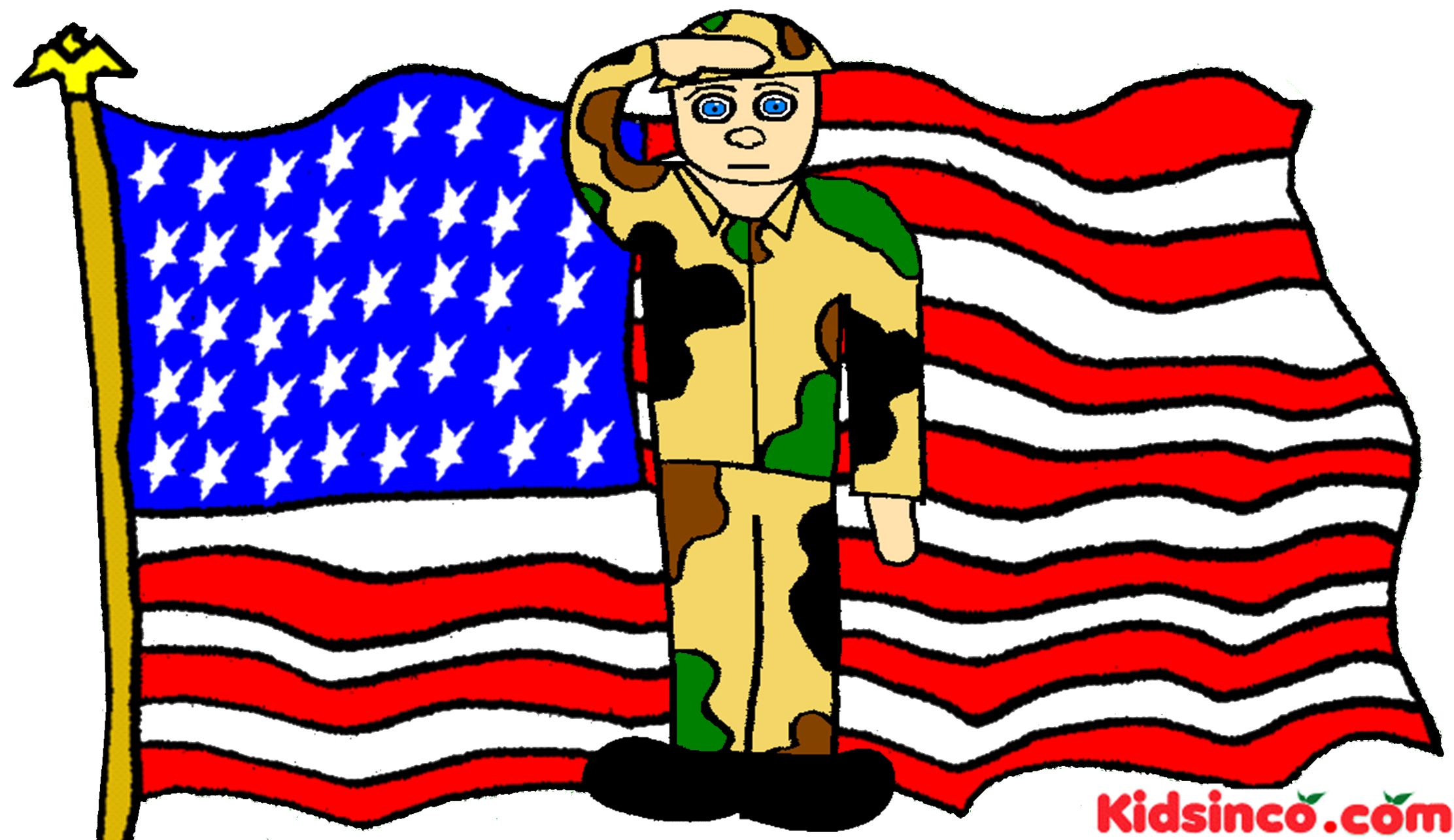 Free clipart memorial day soldier.