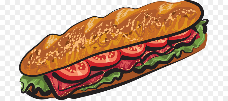 Subway Sandwich Clipart.