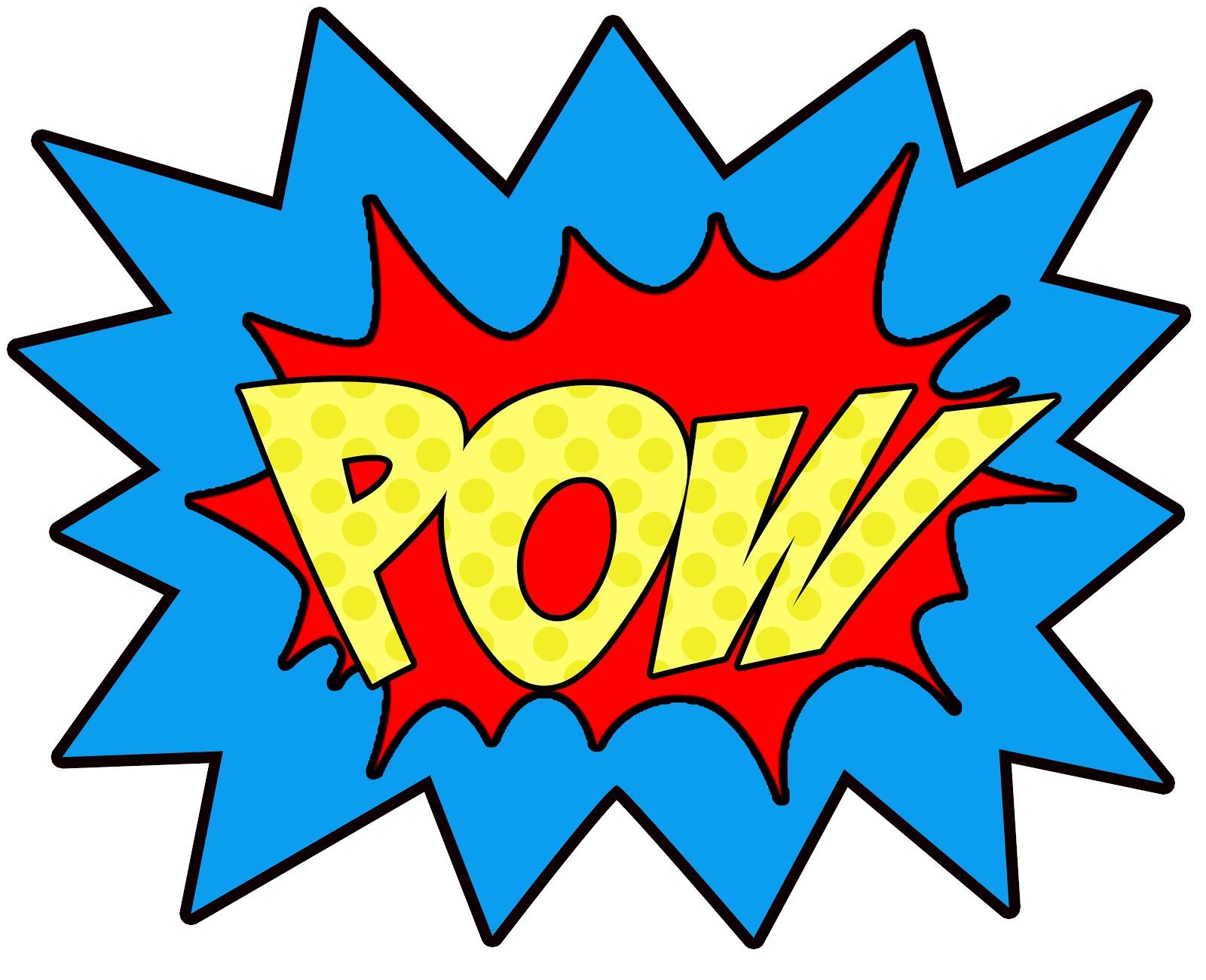 Super Hero Words Clip Art.
