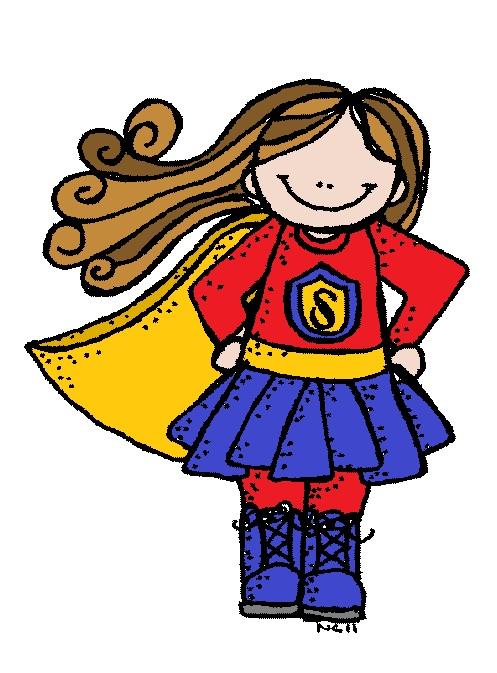 Girl Hero Clipart.