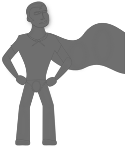 Grey Super Hero Clip Art at Clker.com.