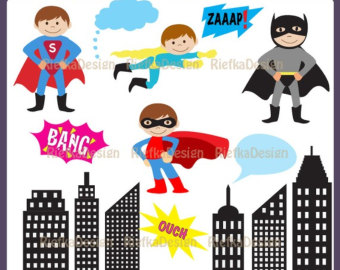 super hero clipart.