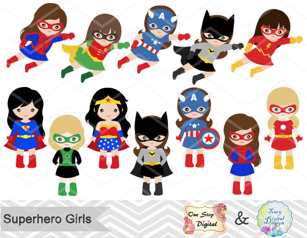 Marvel super heroes clipart.