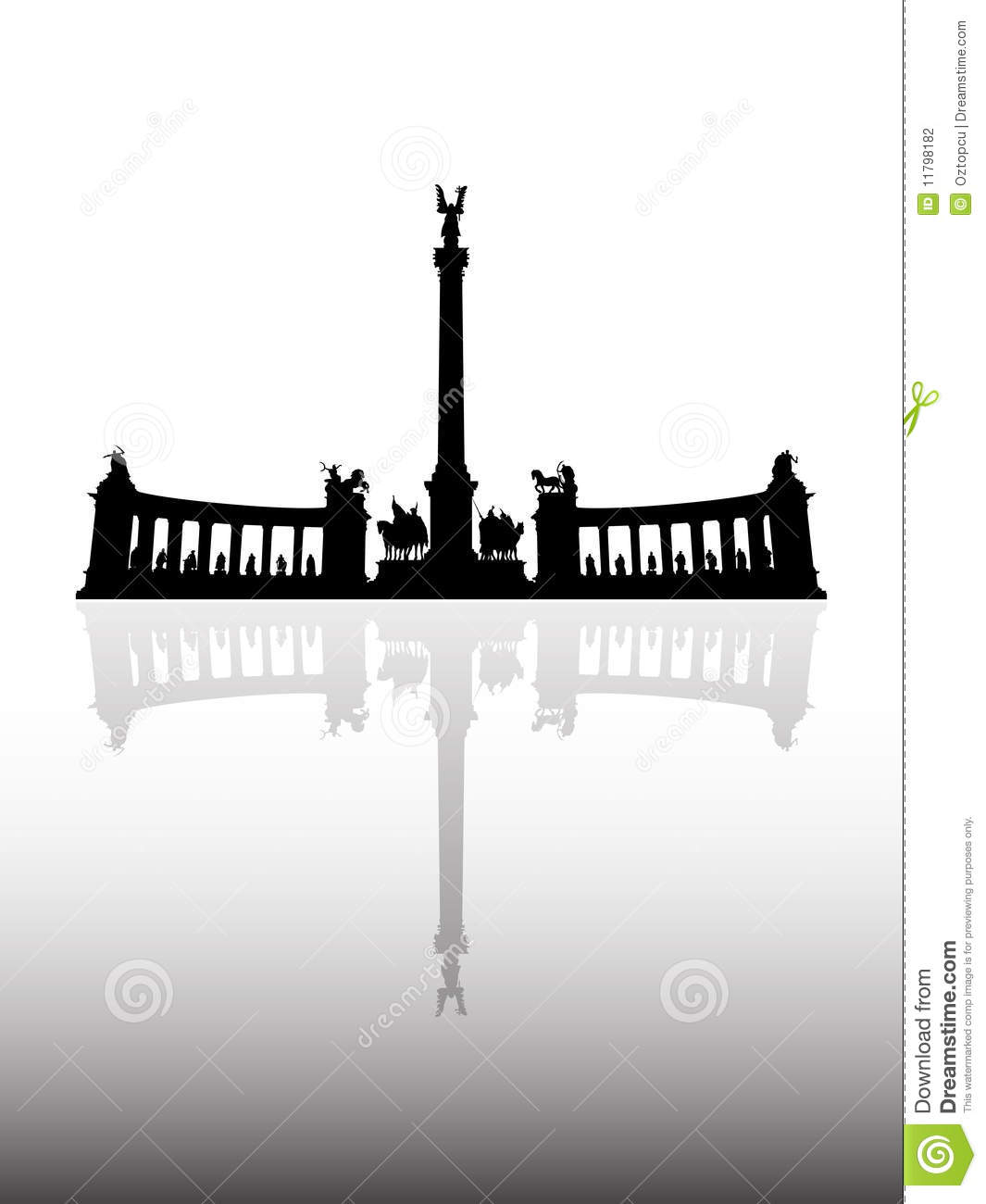 Heroes' Square Stock Photography.