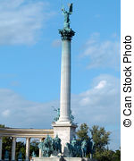Pictures of Top of the column in Heroes' Square.