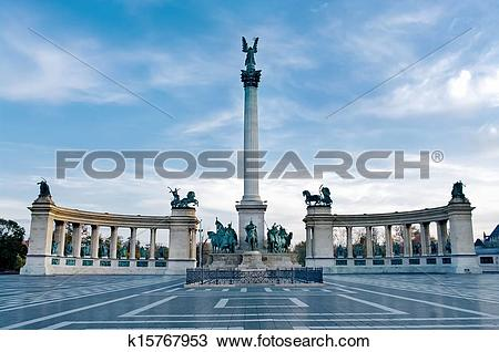 Stock Photo of Heroes Square in Budapest k15767953.