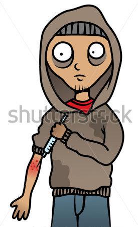 Heroin Addict Clipart.