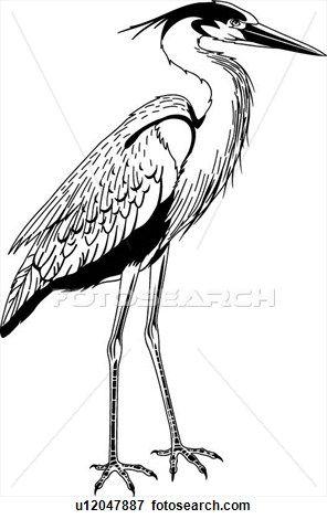 Great Heron Clip Art in 2019.