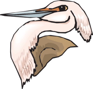 Pink Heron Head Clip Art at Clker.com.