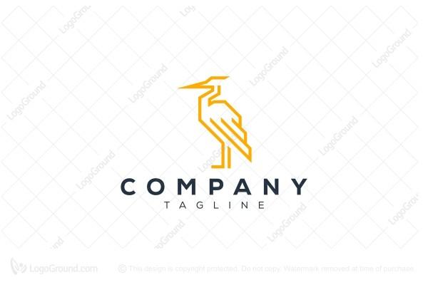 Exclusive Logo 119049, Heron Logo Design Logo.