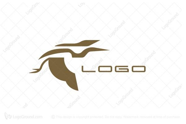 Exclusive Logo 120668, Heron Logo.