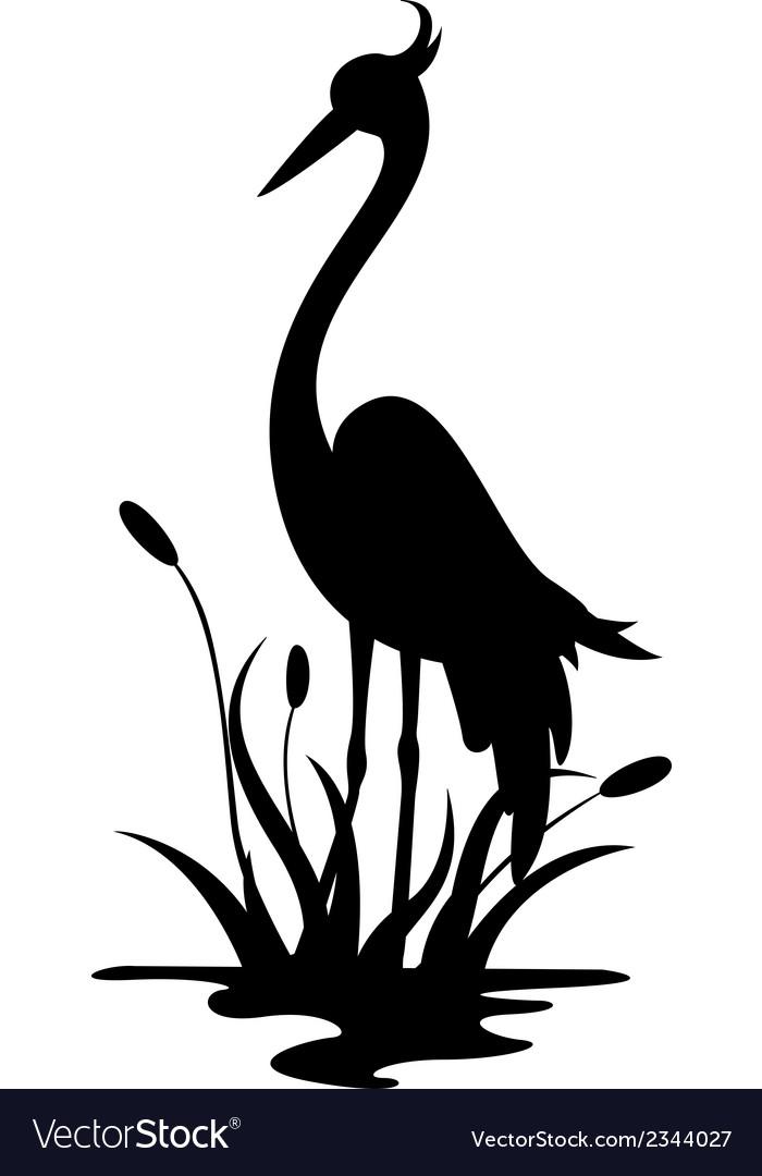 Beauty heron silhouette.