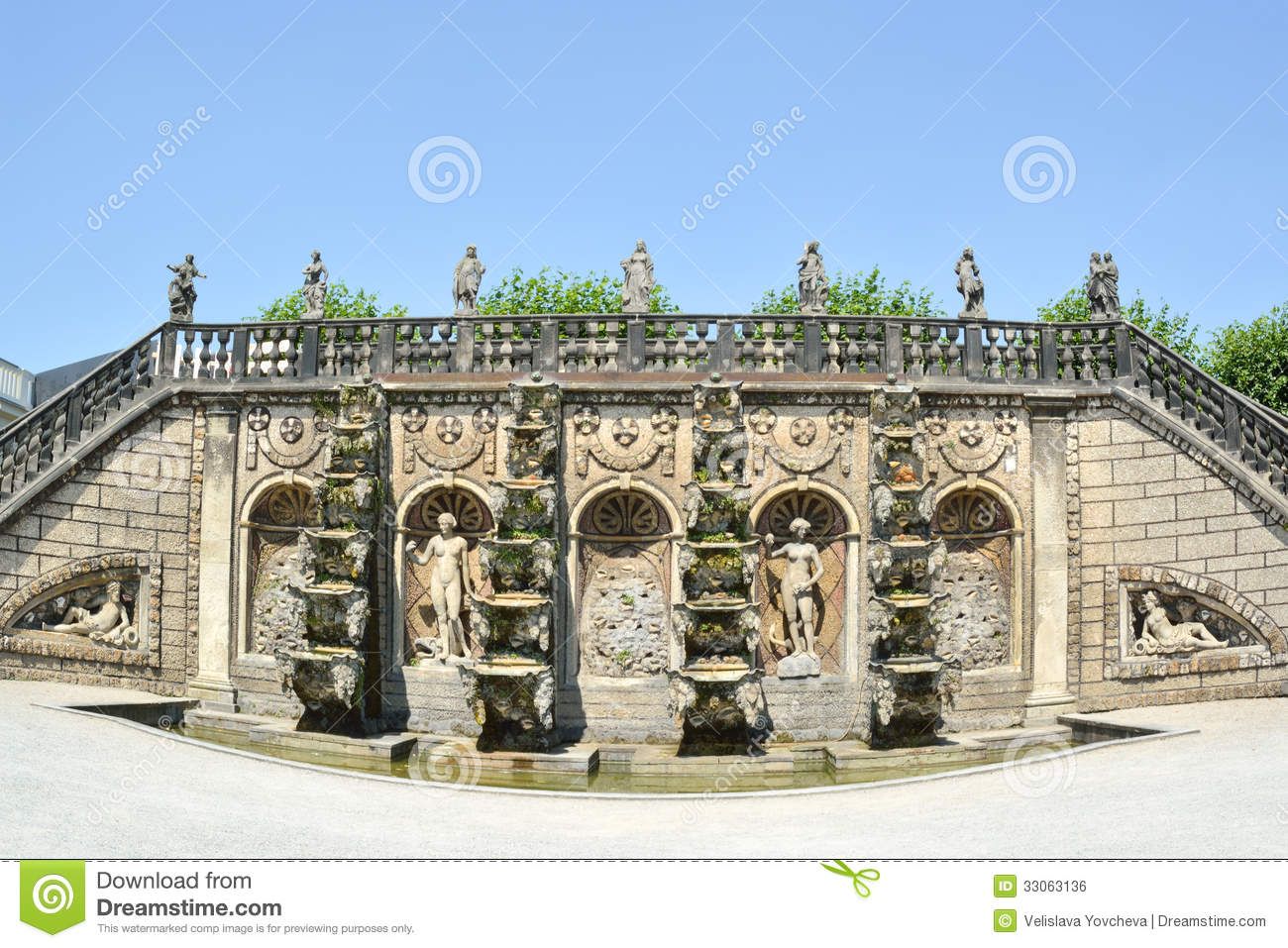 Herrenhausen Gardens Landmark, Germany Royalty Free Stock Images.