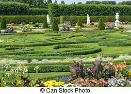 Stock Photography of Royal Gardens at Herrenhausen are one of the.