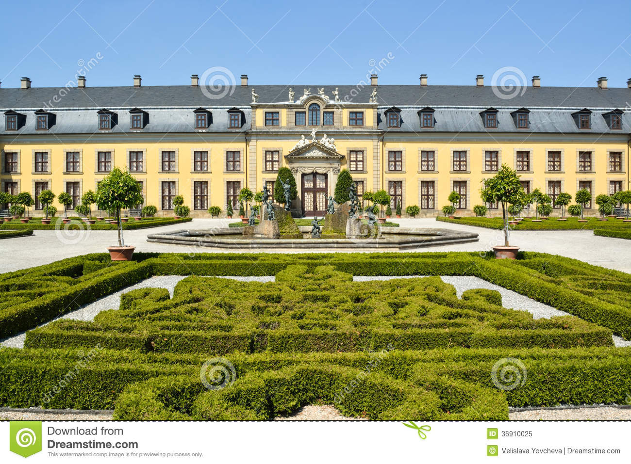 Herrenhausen Castle And Gardens Royalty Free Stock Photo.