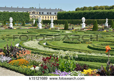 Stock Photograph of Royal Gardens at Herrenhausen are one of the.
