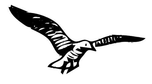 Herring Gull vector clip art.