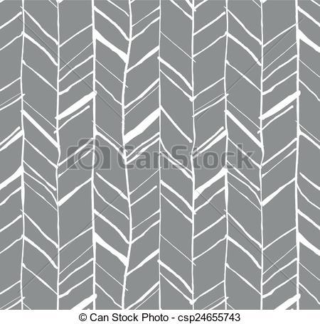 EPS Vector of Hand drawn herringbone pattern.