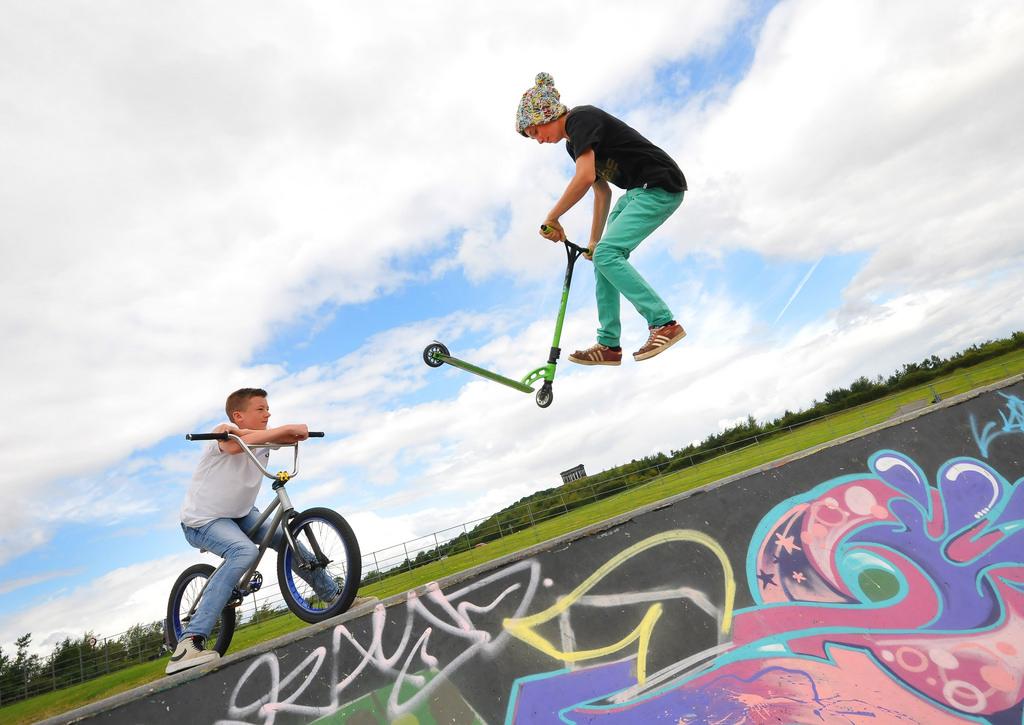 Bike and Skate Park at Herrington Country Park.