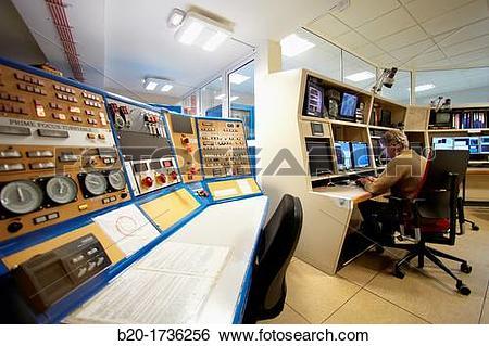 Stock Images of Control room, The William Herschel Telescope WHT.