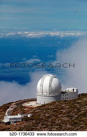 Stock Photo of The William Herschel Telescope WHT, Roque de los.