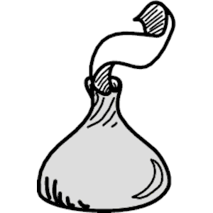 Free Hershey Kiss Clipart Black And White, Download Free.