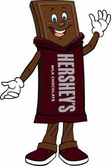 hershey chocolate world character clip art.