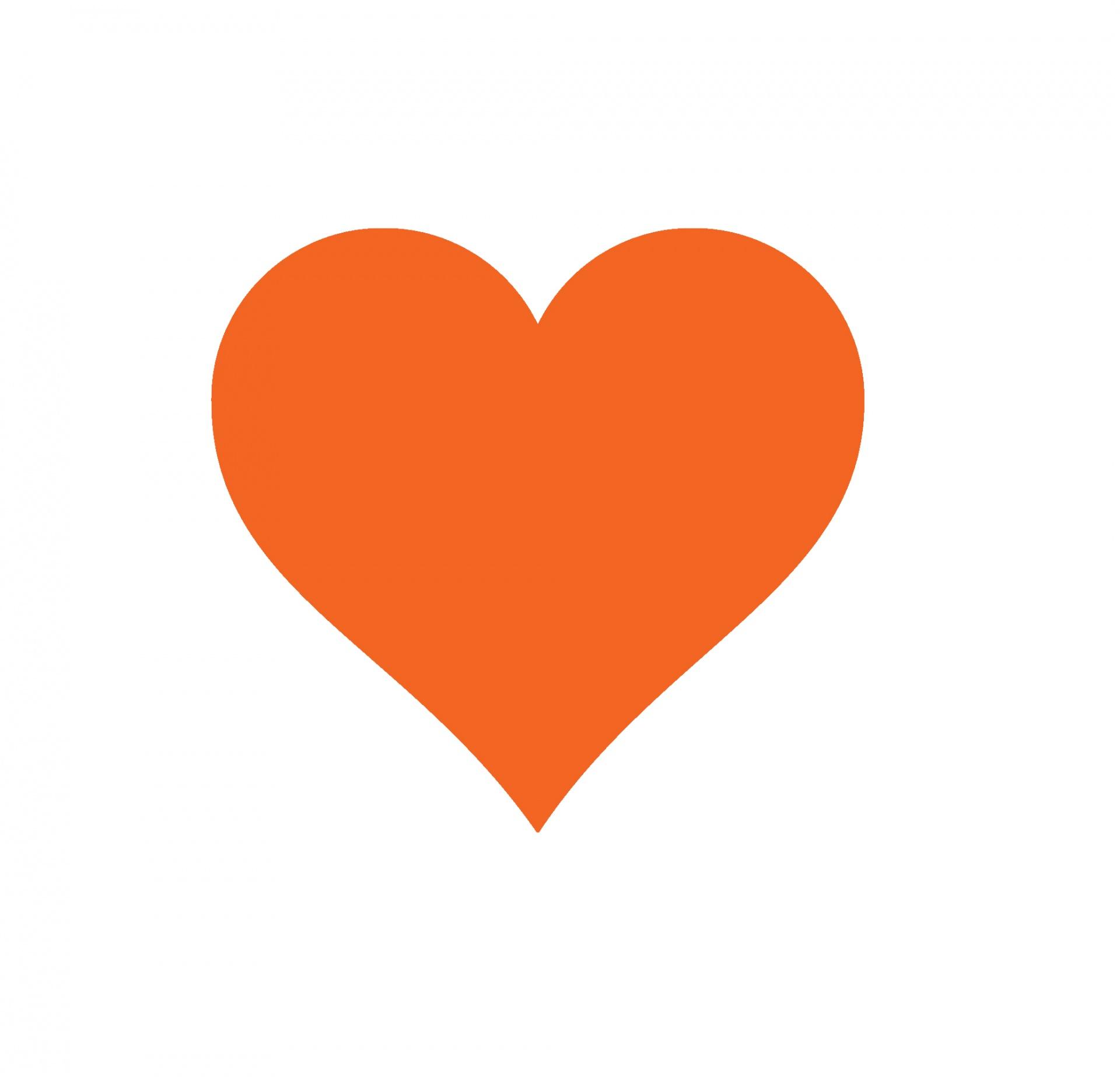 Orange Heart Free Stock Photo.