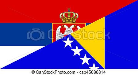 Clipart of serbia bosnia herzegovina flag.