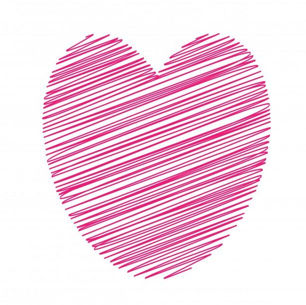 Herz clipart rosa.