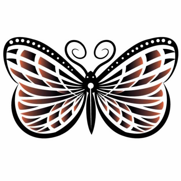 abstract floral butterfly art with white background.