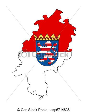 Stock Illustration of hessen map.