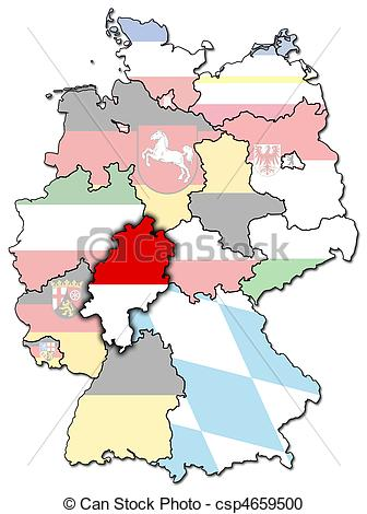 Stock Illustration of Hessen and other german provinces(states.