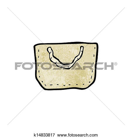 Clip Art of cartoon hessian bag k14833817.