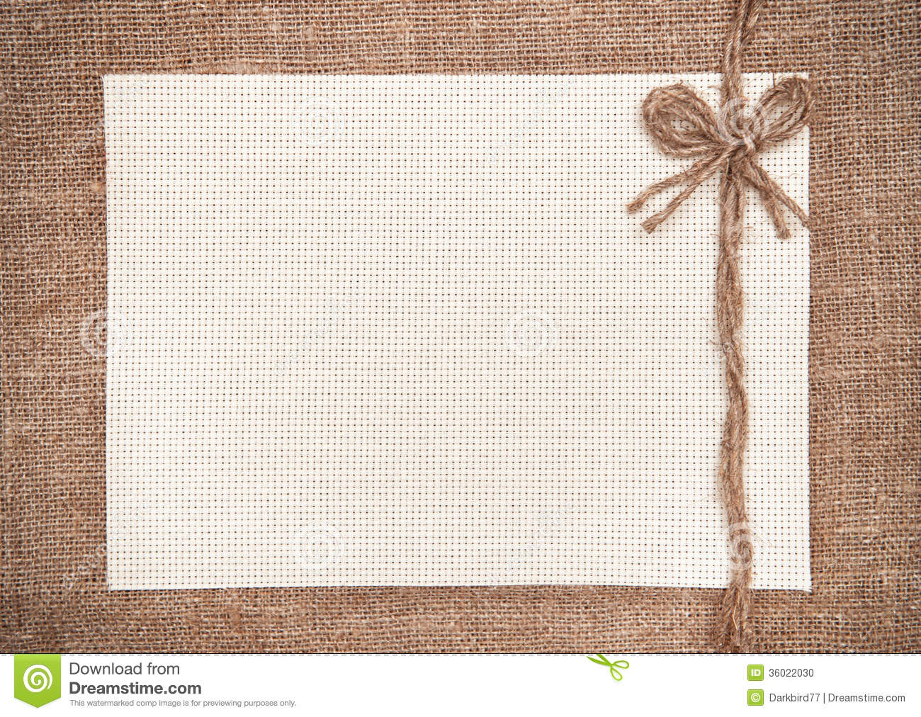 Hessian Canvas Cloth Background Royalty Free Stock Photography.
