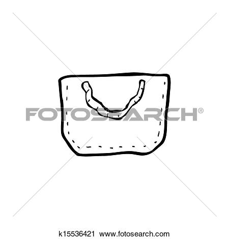 Clipart of cartoon hessian bag k15536421.