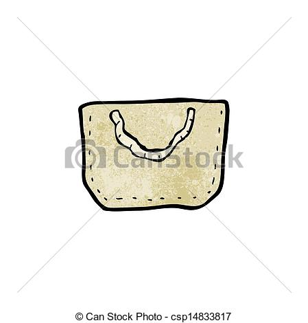 Vector Clip Art of cartoon hessian bag csp14833817.