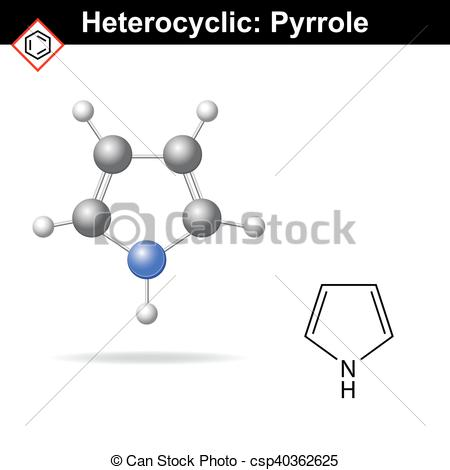 Vector Illustration of Pyrrole five.