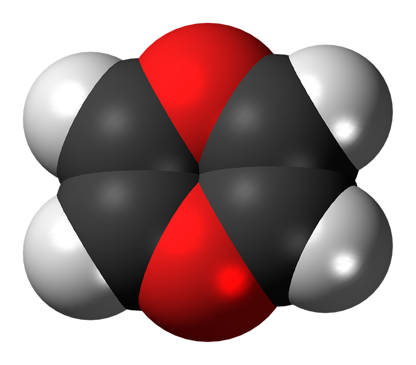 Free illustration: Dioxin, Heterocycle, Spacefill.