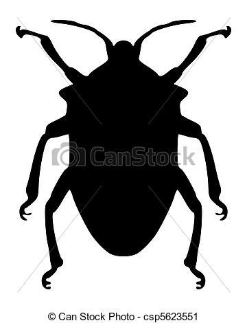 Vector Clip Art of True bug silhouette csp5623551.