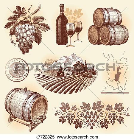 Clip Art of wine taster cfr0082.