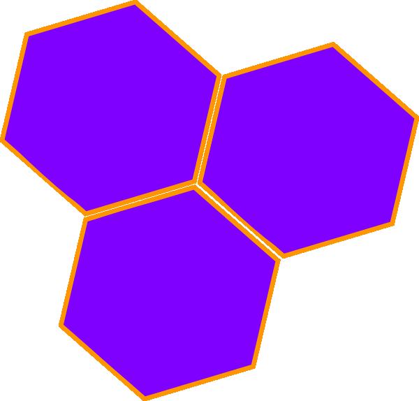 Purple Hive Hex Clip Art at Clker.com.